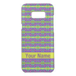 Bright colorful yellow purple curls pattern uncommon samsung galaxy s8+ case