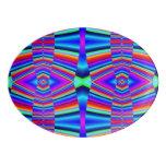 Bright Rainbow pattern Porcelain Serving Platter