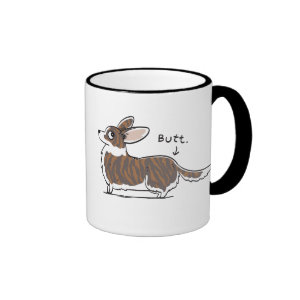 Brindle Cardigan Corgi Butt Mug
