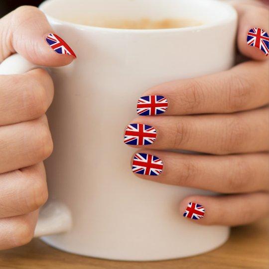 British Flag Nail Extensions Union Jack Design Minx Art