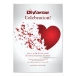 Broken Heart Divorce Celebration Invitation