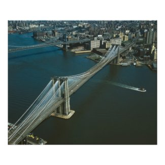 Brooklyn Bridge Aerial Photograph Print