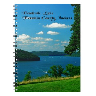 Brookville Lake, Franklin County Indiana Spiral Notebooks