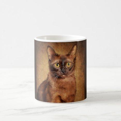 Brown Burmese Cat Coffee Mug