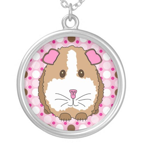 Brown Guinea Pig Silver Plated Necklace