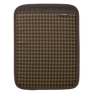 Brown Houndstooth Handsome Gentlemen's Pattern Sleeves For iPads