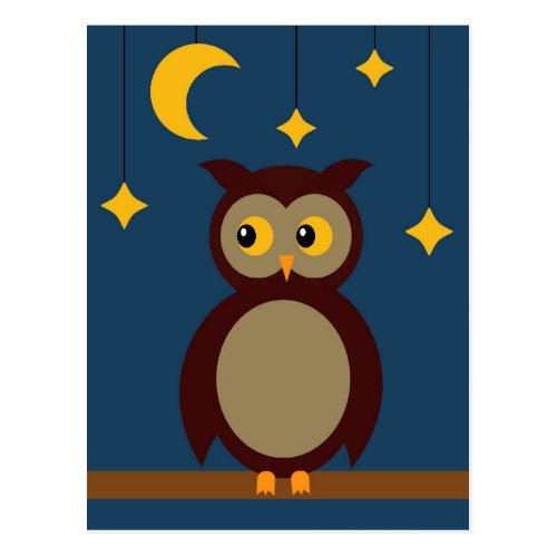Brown Owl Postcard