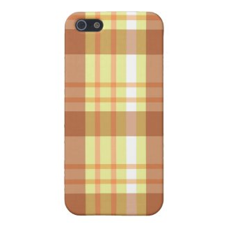 Brown plaid - iPhone case Case For iPhone 5