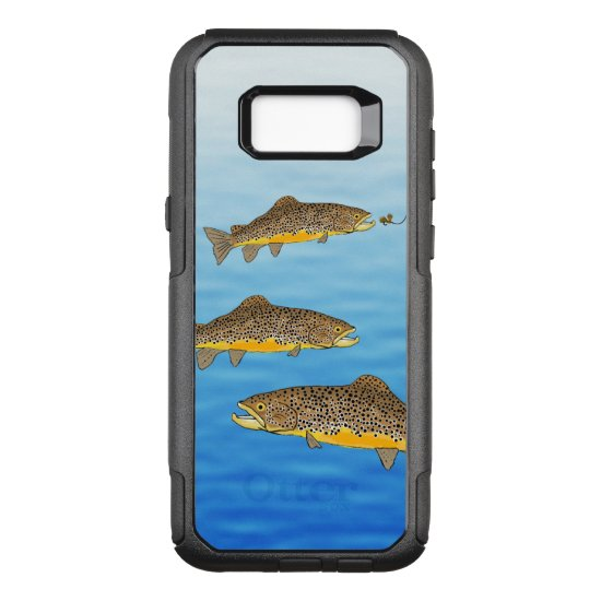 Brown Trout Fly Fishing OtterBox Commuter Samsung Galaxy S8+ Case