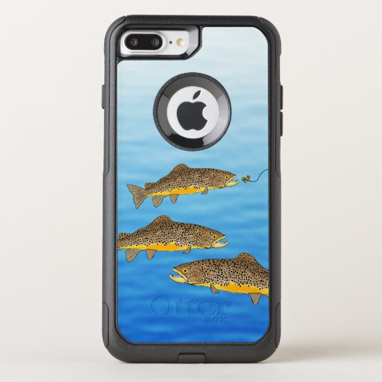 Brown Trout Fly Fishing OtterBox Commuter iPhone 8 Plus/7 Plus Case