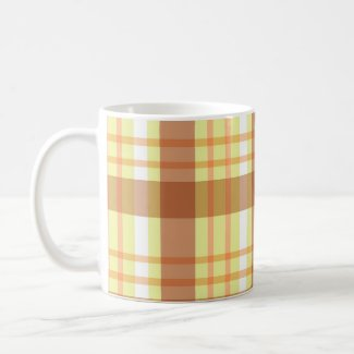 Brown yellow plaid - Mug mug