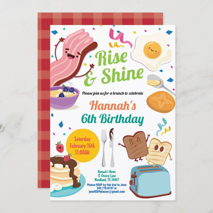 brunch breakfast invitation kid children birthday invitation zazzle com