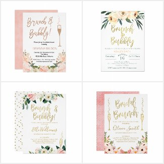 Brunch Bridal Shower Invitations