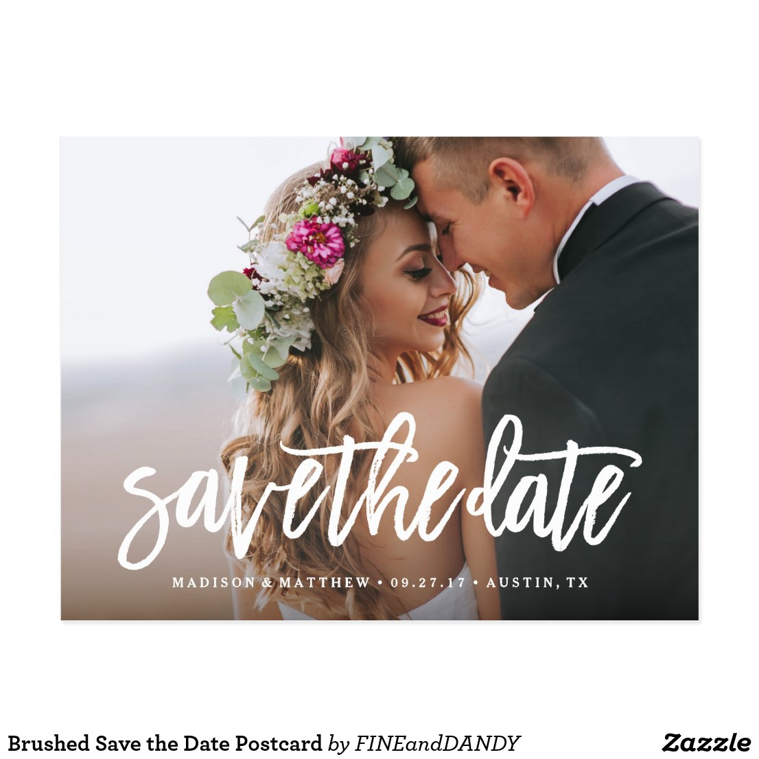 Brushed Save the Date Postcard