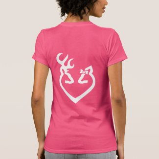 Buck and Doe Heart Love White T Shirts