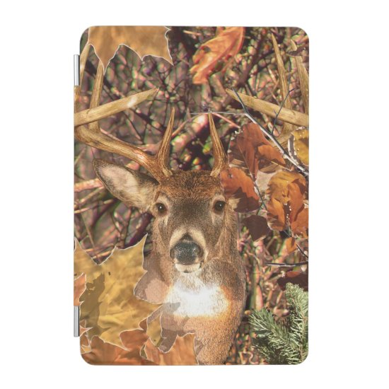 Buck in Camouflage White Tail Deer iPad Mini Cover
