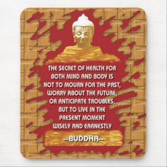 Buddha Motivating messages mousepad mousepad