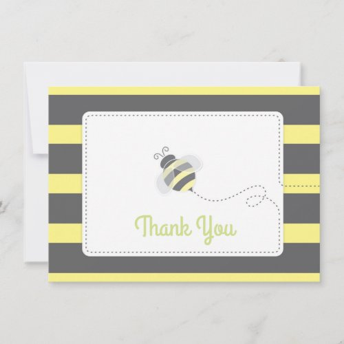 Bumblebee Baby Shower Thank You yellow and black