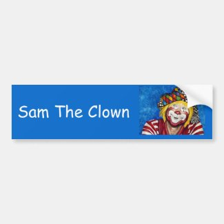 Bumper Sticker Sam the Clown