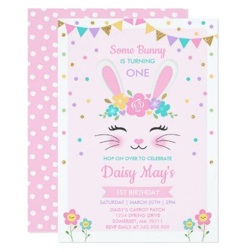 Bunny Birthday Invitation Some Bunny Birthday
