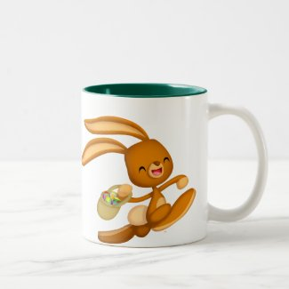 Bunny Easter on the Loose!! cartoon mug mug