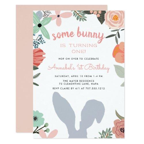 Bunny Garden | Spring Birthday Party Invitation