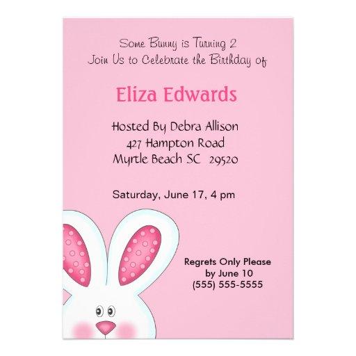 personalized girl girls girls easter birthday invitations custominvitations4u com