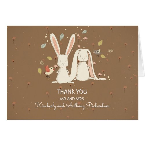 bunny rabbits couple cute thank you