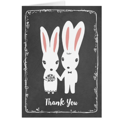 Bunny Rabbits Wedding Thank You