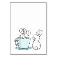 Bunny with a Cup of Tea Card