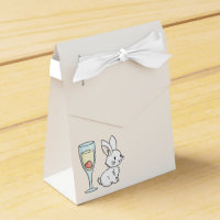 Bunny with Champagne Favor Box