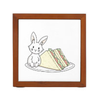 Bunny with Sandwiches Pencil/Pen Holder