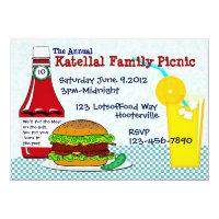 Burgers & Lemonade Picnic Invitation