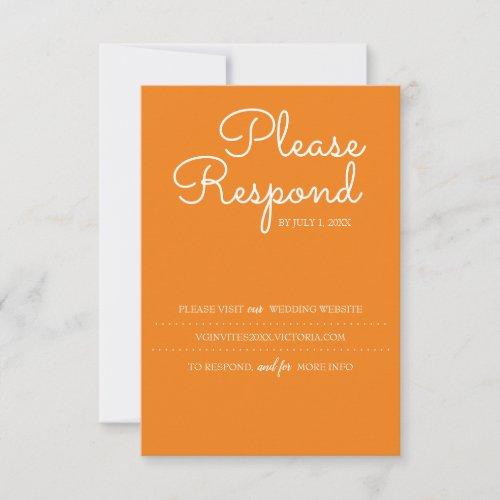 Burnt Orange RSVP Card, Wedding Website