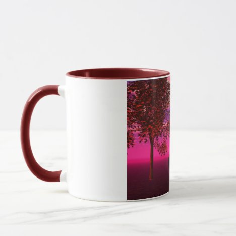 Burst of Joy – Abstract Magenta & Gold Inspiration Mug