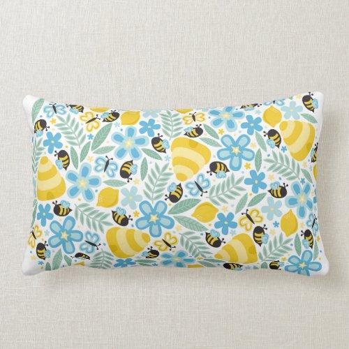 Busy Little Honeybees Lumbar Pillow