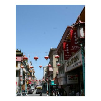Busy Street in Chinatown, San Francisco Postcard