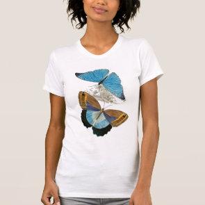 Butterflies - Blue Tee Shirts
