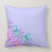 Butterfly American MoJo Pillow throwpillow