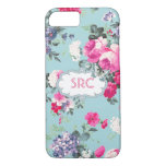 Butterfly and Roses Custom Monogram iPhone 8/7 Case