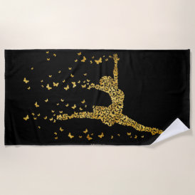 Butterfly Dancer Beach Towel