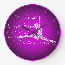 Butterfly Dancer Large Clock