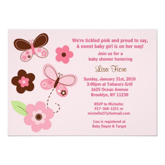 Erfly Flowers Custom Baby Shower