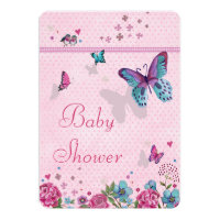 Butterfly Love Baby Shower Invitation