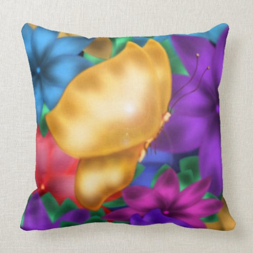 Butterfly Paradise Pillow
