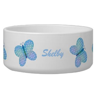 Butterfly: Personalized Pet Dish petbowl