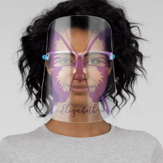 Butterfly Personalized | Purple Face Shield