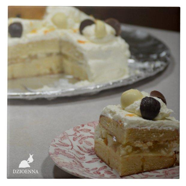 Cake Ceramic Tile Trivet