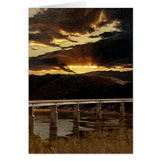 California Bridge Sunrise Greeting Card