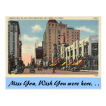 California, Hollywood Boulevard Postcard